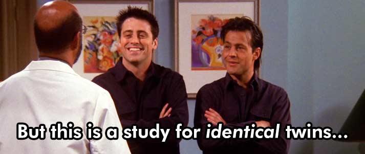 friends identical twins study