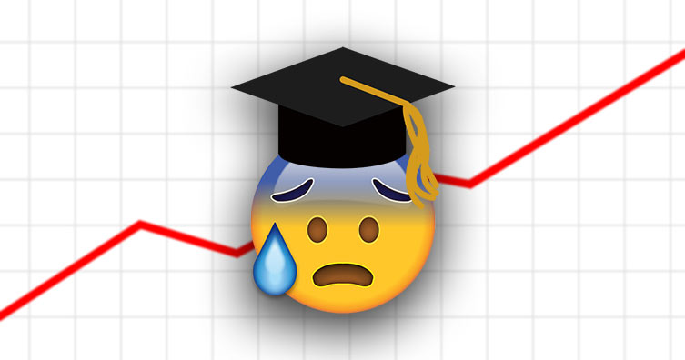 graduate emoji with graph