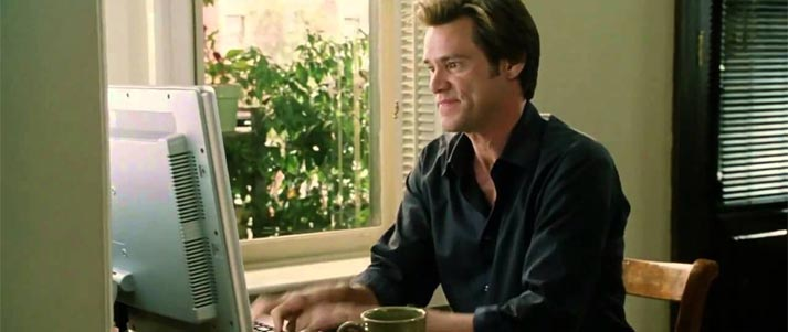bruce almighty typing fast