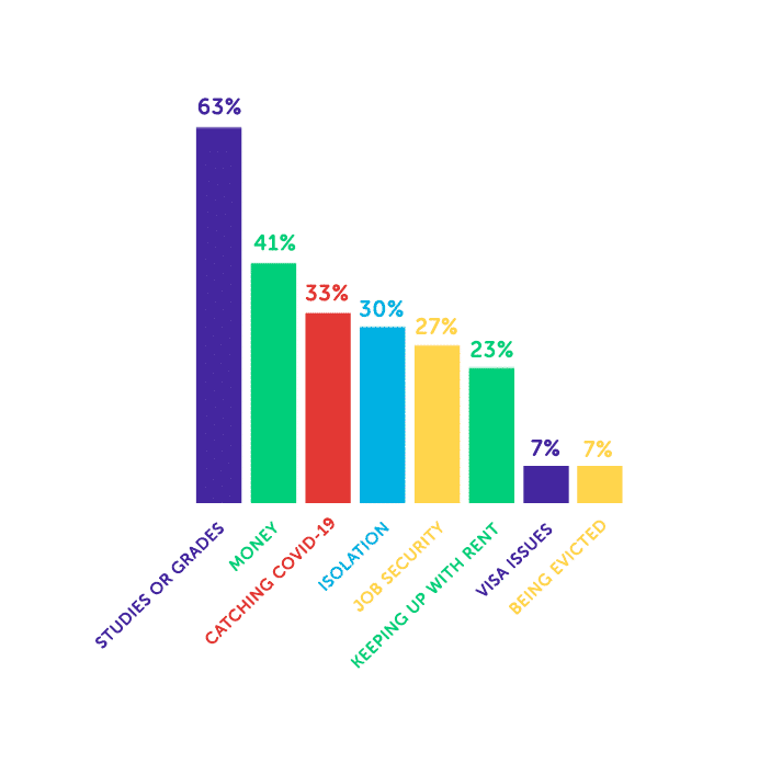 chart about issues students are worried about