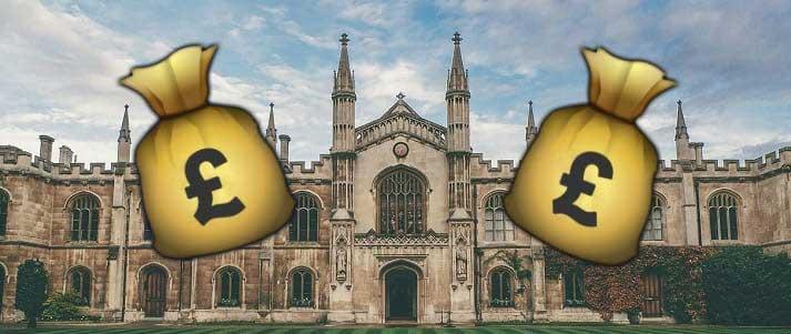 cambridge university money bags